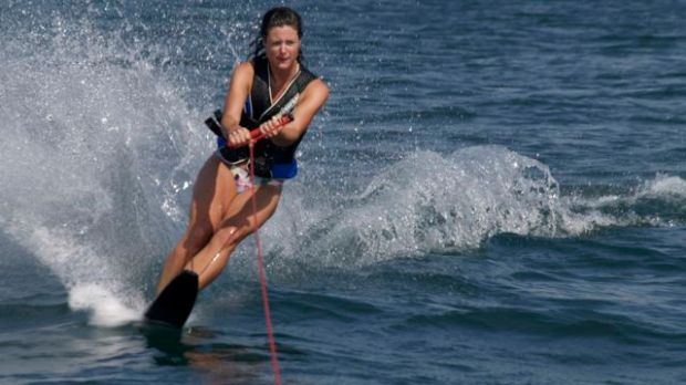 Waterskiing on Lac Leman