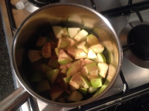 Stewing apples - sweet smell of cinnamon