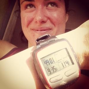 Just under 10km in just under 5o mins!