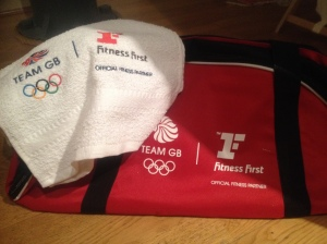 I even got a  free bag and towel. Happy days!