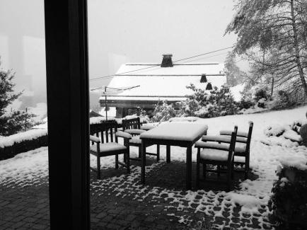 Snow has arrived across the Alps