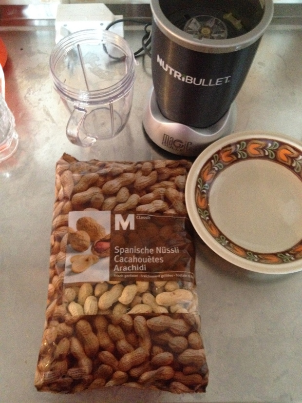 A bag of Migros' finest peanuts; they were the cheapest and most untouched