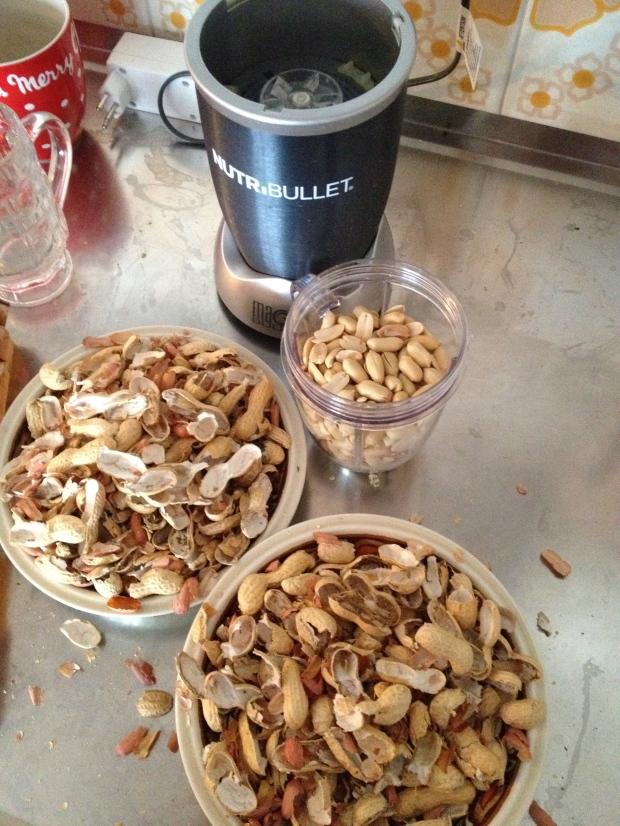 After more time than I am willing to disclose, I had a small cup full of peanuts
