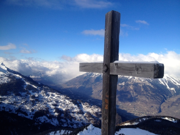 Always a cross at the summit.