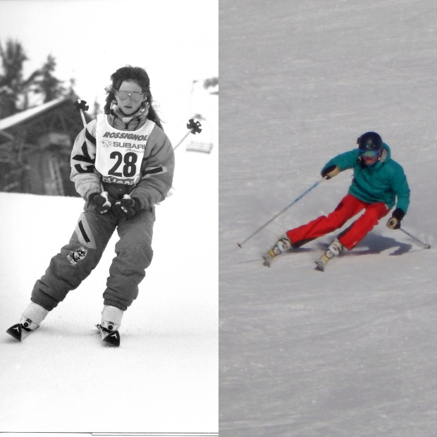 Before and after - 1997 (i'm guessing!) and 2014/15. I don't have many photographs of me skiing - it's not great, I know!