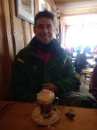 The 'athlete' enjoying his ski holiday courtesy of my 30th!