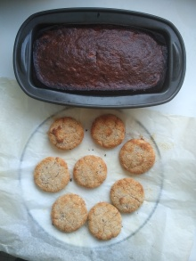 Banana bread and biscuits